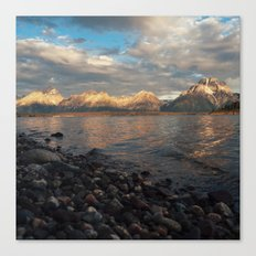 First Light on the Tetons and Jackson Lake Canvas Print