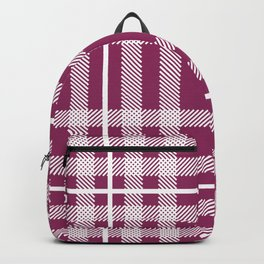 Berry Plaid Backpack