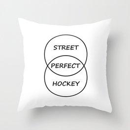 Street Hockey Throw Pillow