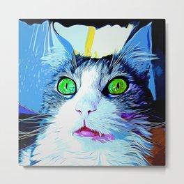 norwegian forest cat omg vector art crisp winter Metal Print