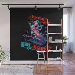 Cyberpunk Mermaid Wall Mural