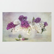 still life with lilac Rug