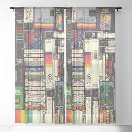 Cassettes, VHS & Games Sheer Curtain