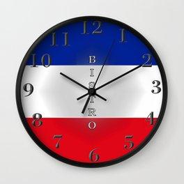 Tricolore Bistro Wall Clock