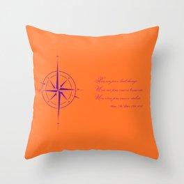 Rememberance, orange Throw Pillow