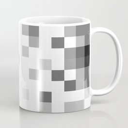 Gray Scale In Pixels Coffee Mug
