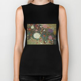 flower【Japanese painting】 Biker Tank