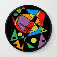 kandinsky Wall Clocks featuring Abstract #130 by Ron Trickett