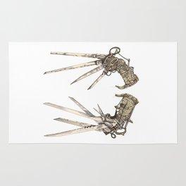 Scissorhands (Sepia) Rug