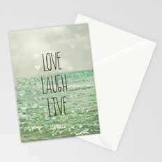 Love Laugh Live Stationery Cards