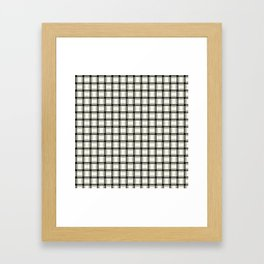 Small Ivory Weave Framed Art Print
