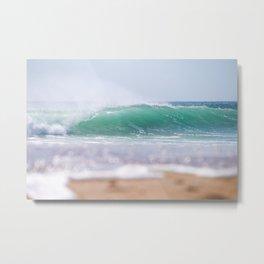 Sea Glass Waves Metal Print