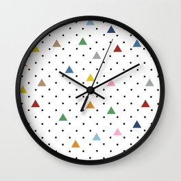 Pin Point Triangles Wall Clock