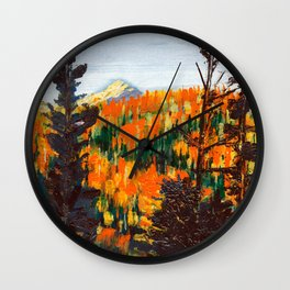 Forest Invermere by Dennis Weber of ShreddyStudio Wall Clock