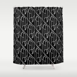 Black Crystal Pattern Shower Curtain
