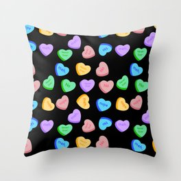 NO - Unhappy Valentines day repeating pattern Throw Pillow