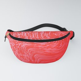 Shiny red marble pattern Fanny Pack