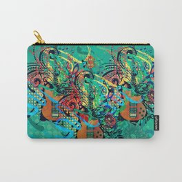 Grunge guitar illustration Carry-All Pouch