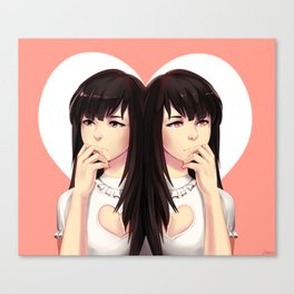 Small Hearted Girls Canvas Print