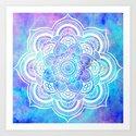 Mandala Pink Lavender Aqua Galaxy Space by vintageby2sweet