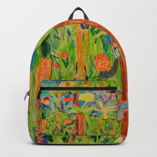 Paradise Delight | Kids Painting by Elisavet Backpack