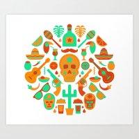 Mexican soup Art Print