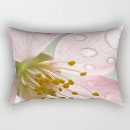 Cherry Blossom in Rain Rectangular Pillow