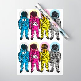 CMYK Spacemen Wrapping Paper