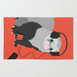 Music Loving Ferret Rug