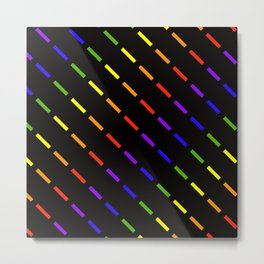 Dashing Roygbiv Metal Print