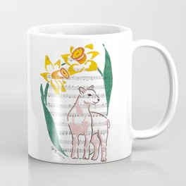 The Lamb of God (lamb and daffodils on a hymn) Coffee Mug