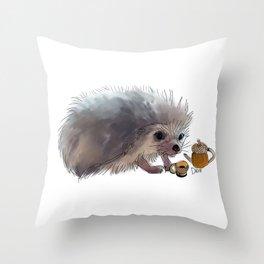 Acorn Tea Throw Pillow