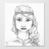 bohemian Canvas Prints featuring Bohemian by ATheroux