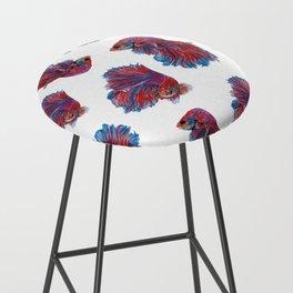Ocean Theme- Red Blue Betta Fish Bar Stool