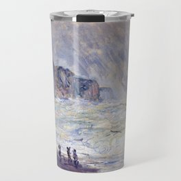1897-Claude Monet-Heavy Sea at Pourville-73 x 101 Travel Mug