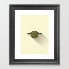 Master Yoda Minimalistic Poster Framed Art Print