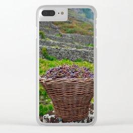 Grape harvest Clear iPhone Case