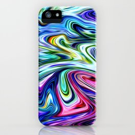 Electric Blues iPhone Case