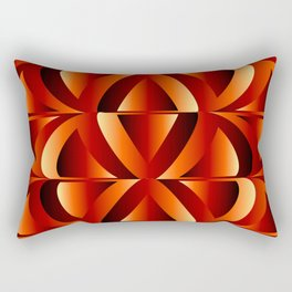 Waves and triangles in maroon Rectangular Pillow