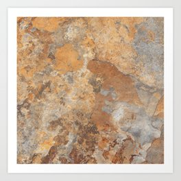 Granite and Quartz stone texture Art Print