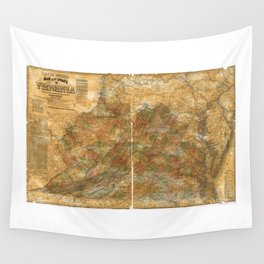 Llyod's Official Map of Virginia (1861) Wall Tapestry