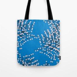 Blue cherry blossom Tote Bag