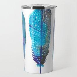 Feathers / Harmony in Blue Travel Mug