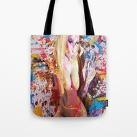nicki Tote Bags featuring nicki baby by Beauti Asylum