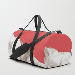 Abstract red paper background Duffle Bag