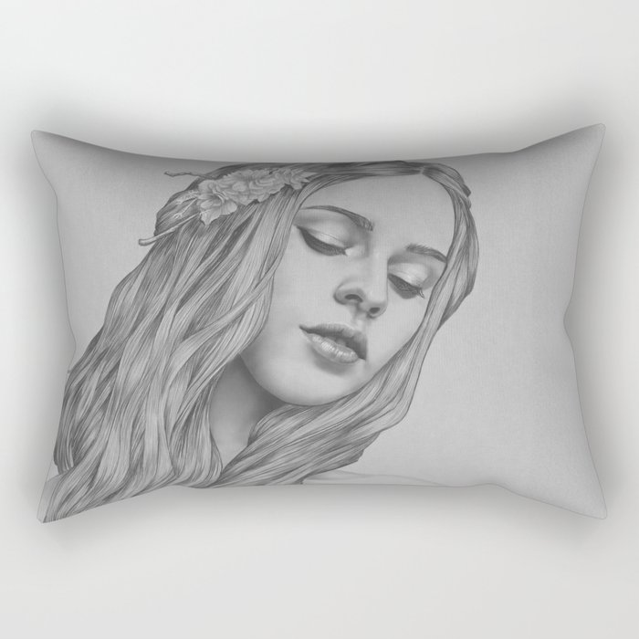 Patience - a digital drawing Rectangular Pillow