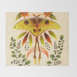 Moth Wings IV Throw Blanket