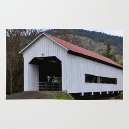 The Red Roof Covered Bridge Rug