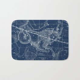 Capricorn sky star map Bath Mat