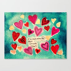 Me and You - Valentine Canvas Print